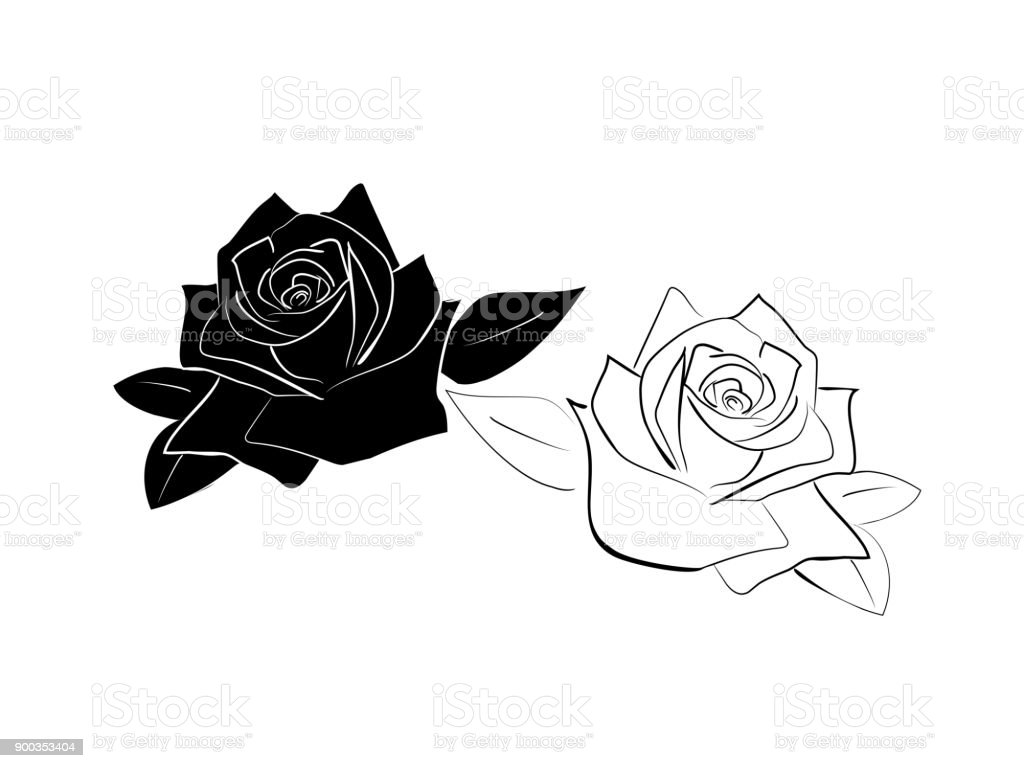 Line Drawing Of Rose Plant : Line drawing by origami roses on deviantart