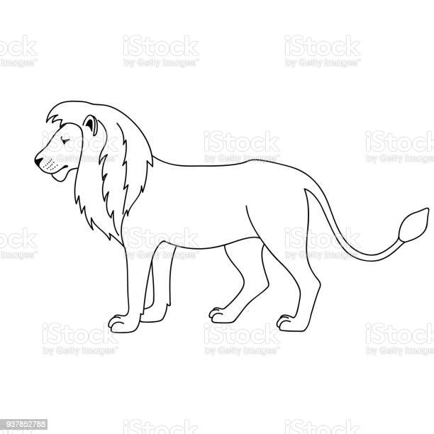 Isolated black outline lion on white background side view curve lines vector id937852788?b=1&k=6&m=937852788&s=612x612&h=rmy8srnxeyh2ehri4qsp0yj9rngj51jbgxlin0avwuc=