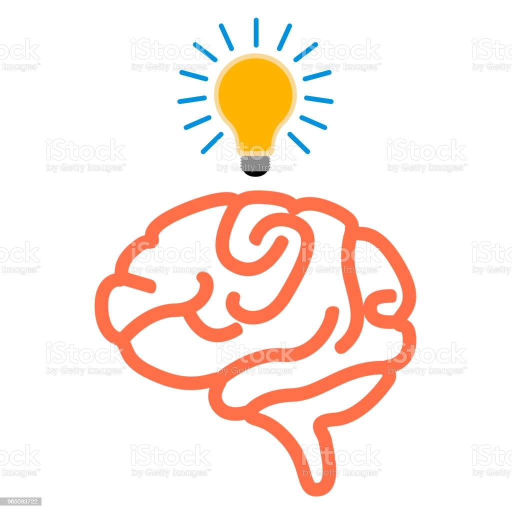Isolated brain icon royalty-free isolated brain icon stock vector art & more images of bright