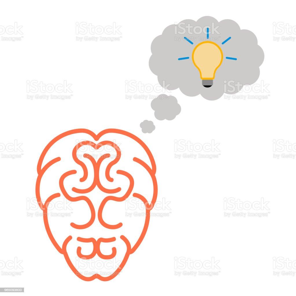 Isolated brain icon isolated brain icon - stockowe grafiki wektorowe i więcej obrazów biznes royalty-free