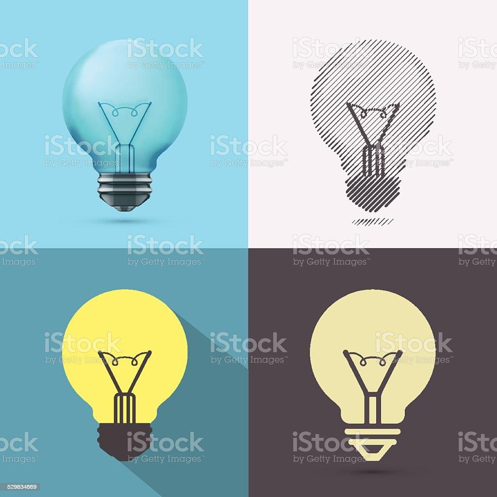 Isolated Bulb vector art illustration
