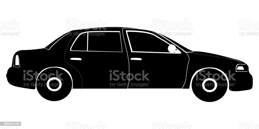隔離された車シルエット アイコンのベクターアート素材や画像を多数ご