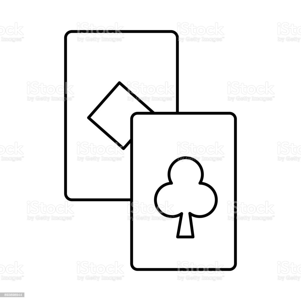 Isolated cards design vector art illustration