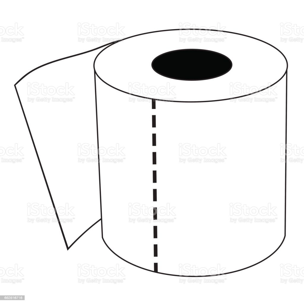 Isolated Cartoon Toilet Paper Roll Stock Illustration ...