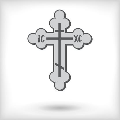 Isolated Christian cross. Vector illustration