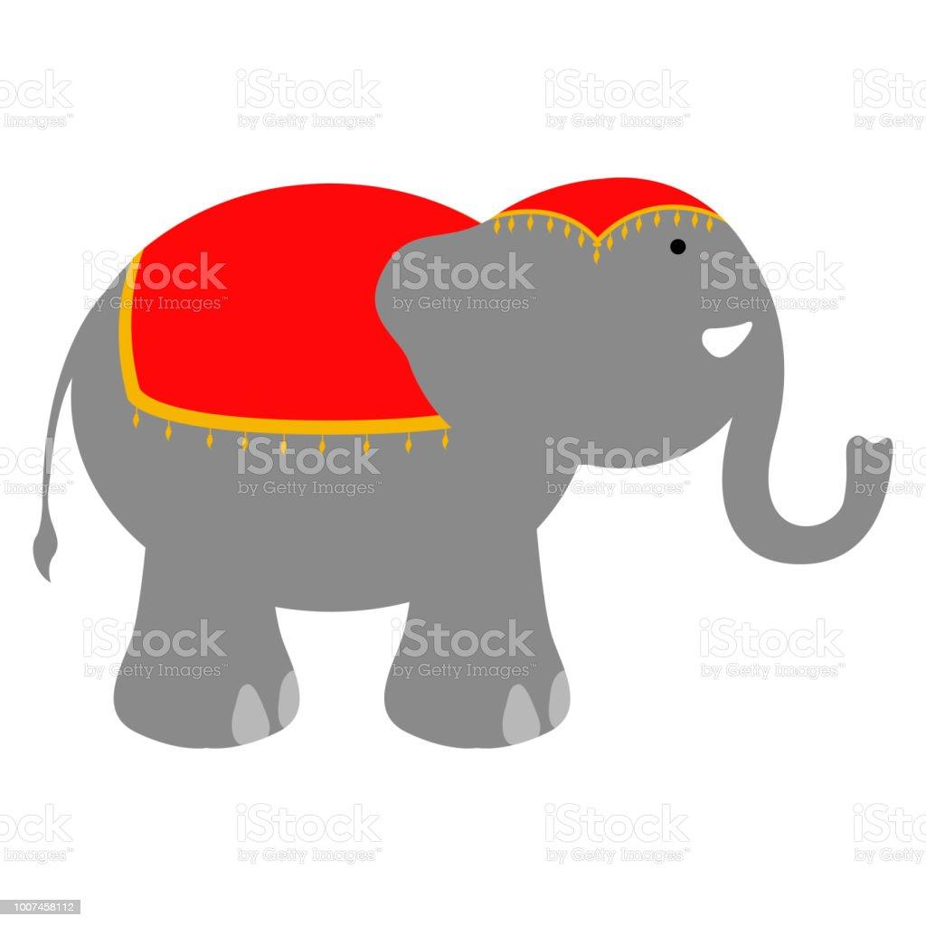 Isolierte Zirkus Elefanten Stock Vektor Art Und Mehr Bilder Von