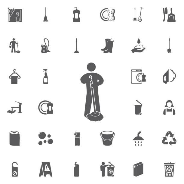 Royalty Free Housekeeping Logos Drawing Clip Art, Vector