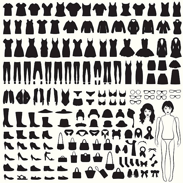 isolated clothing silhouette - shoes fashion stock illustrations, clip art, cartoons, & icons