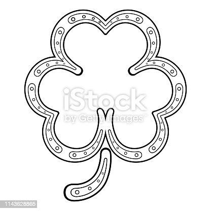 Isolated clover shaped horseshoe. Vector illustration design