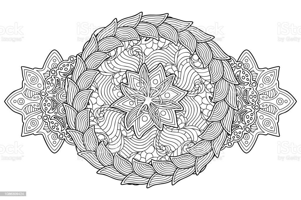 Coloriage Guirlande Fleurs.Coloriage Livre Dart Avec Guirlande Et Fleur Isolee Vecteurs