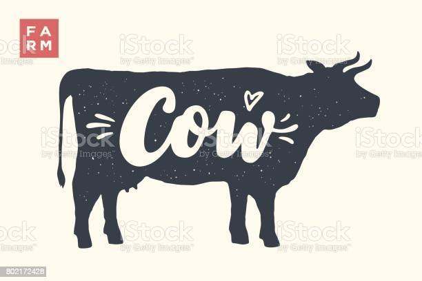 Isolated cow silhouette with lettering vector id802172428?b=1&k=6&m=802172428&s=612x612&h=wcpa2t6r4sicyrqzbvoozgms3getv0u4a8gjkvj5dsy=