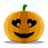 Isolated cute halloween pumpkin