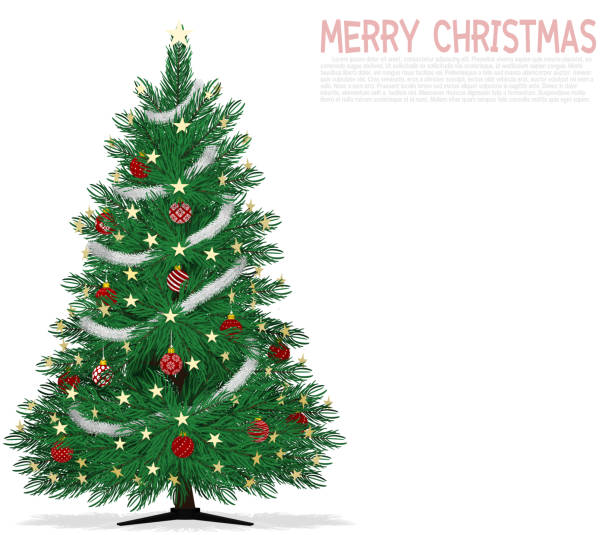 Christmas Tinsel Transparent.Red Tinsel Tree Cartoons Illustrations Royalty Free Vector