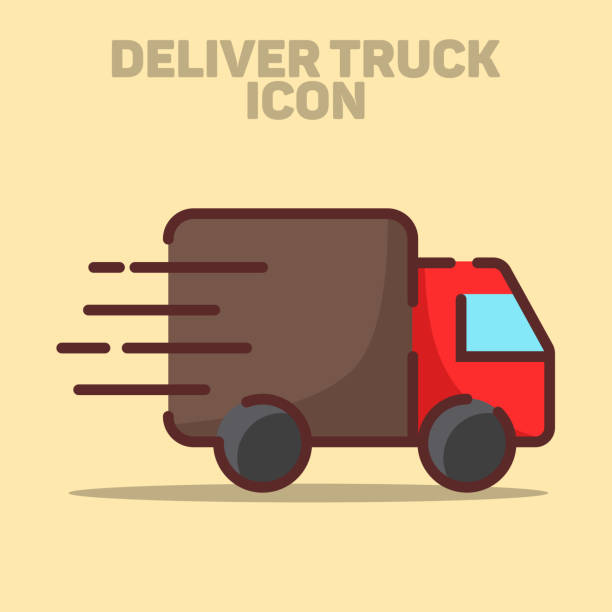Isolated Delivery Truck Icon Vector Illustration vector art illustration