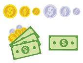 Isolated Dollar