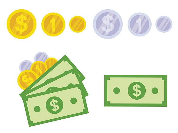 Dollar isolé - Illustration vectorielle