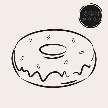 Isolated donut draw