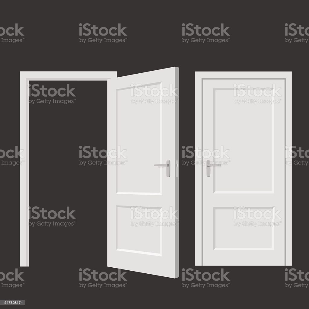 Isolated doors. Realistic vector illustration vector art illustration