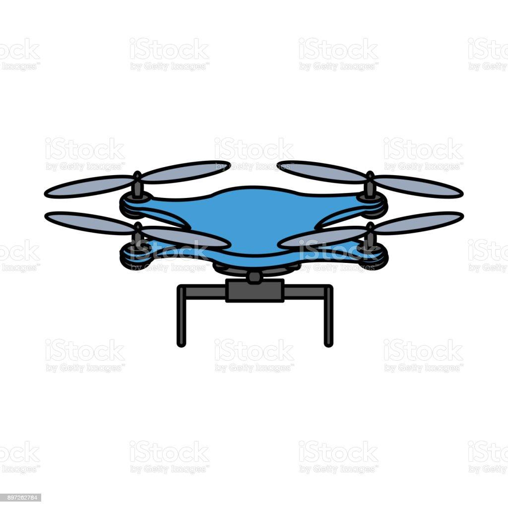 Isolated drone design vector art illustration