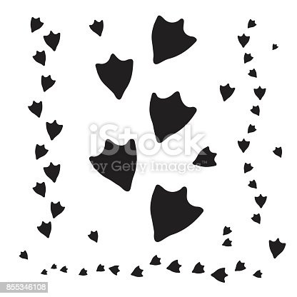 isolated duck footprints and tracks stock vector art more images