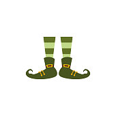Isolated elf legs. Saint patricks day - Vector illustration