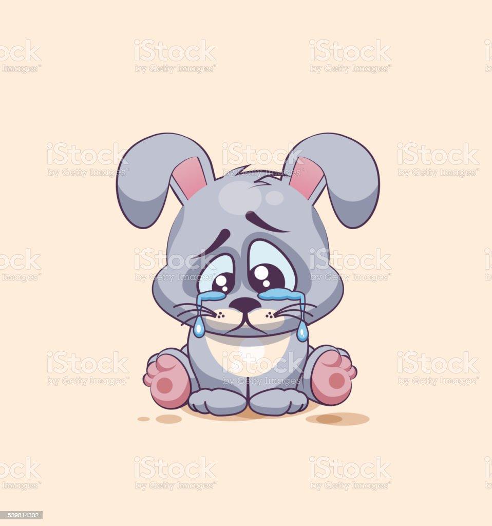 Ilustración de Aislado Emoji Personaje De Historieta Triste Y ...