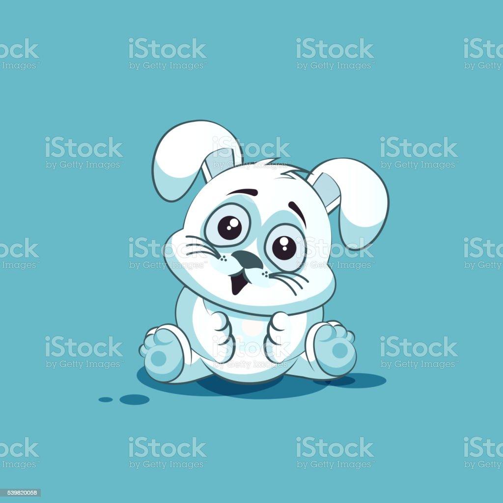 personnage de dessin anim isol emoji blanc leveret surpris avec gros yeux personnage de dessin anim - Dessin Avec Emoji