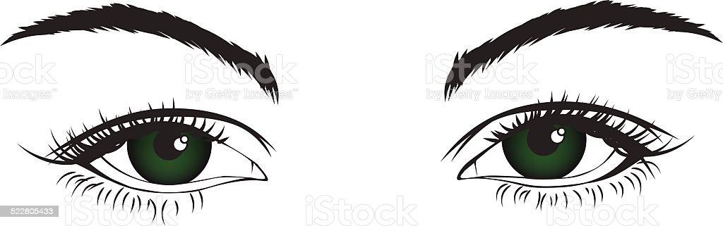 Isolated eyes