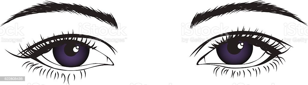 Isolated eyes vector art illustration