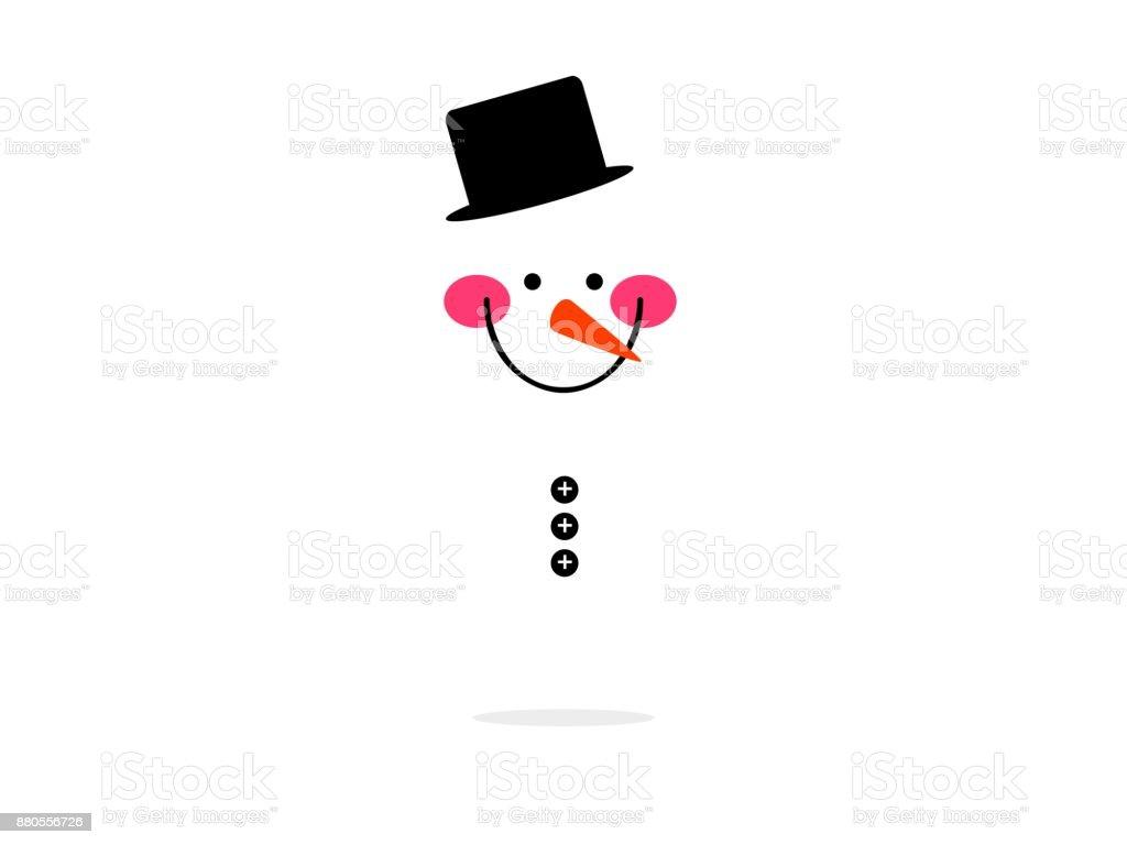 homme de neige grand sourire visage isolé - Illustration vectorielle