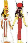 Isolated figure of ancient egypt god