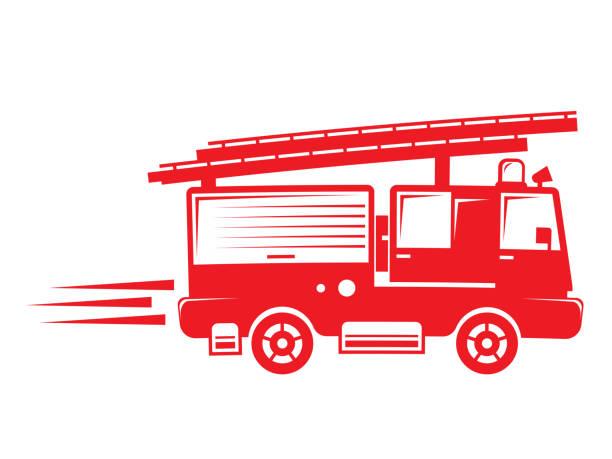 isolated firetruck illustration isolated firetruck illustration fire engine stock illustrations