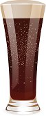 Isolated Fizzy water. Tall glass. Vector TAB Cola /  Pepsi / Coca-Cola