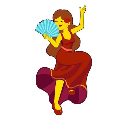 Isolated flamenco dancer