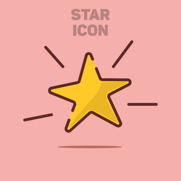Isolated Flat Star Icon Vector Illustration Background vector art illustration