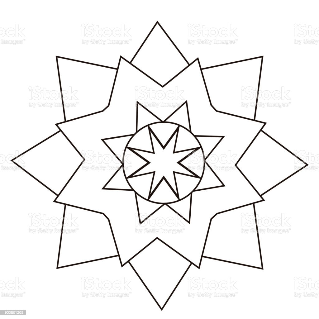 Isolated Flower Outline Stock Vector Art More Images Of Abstract