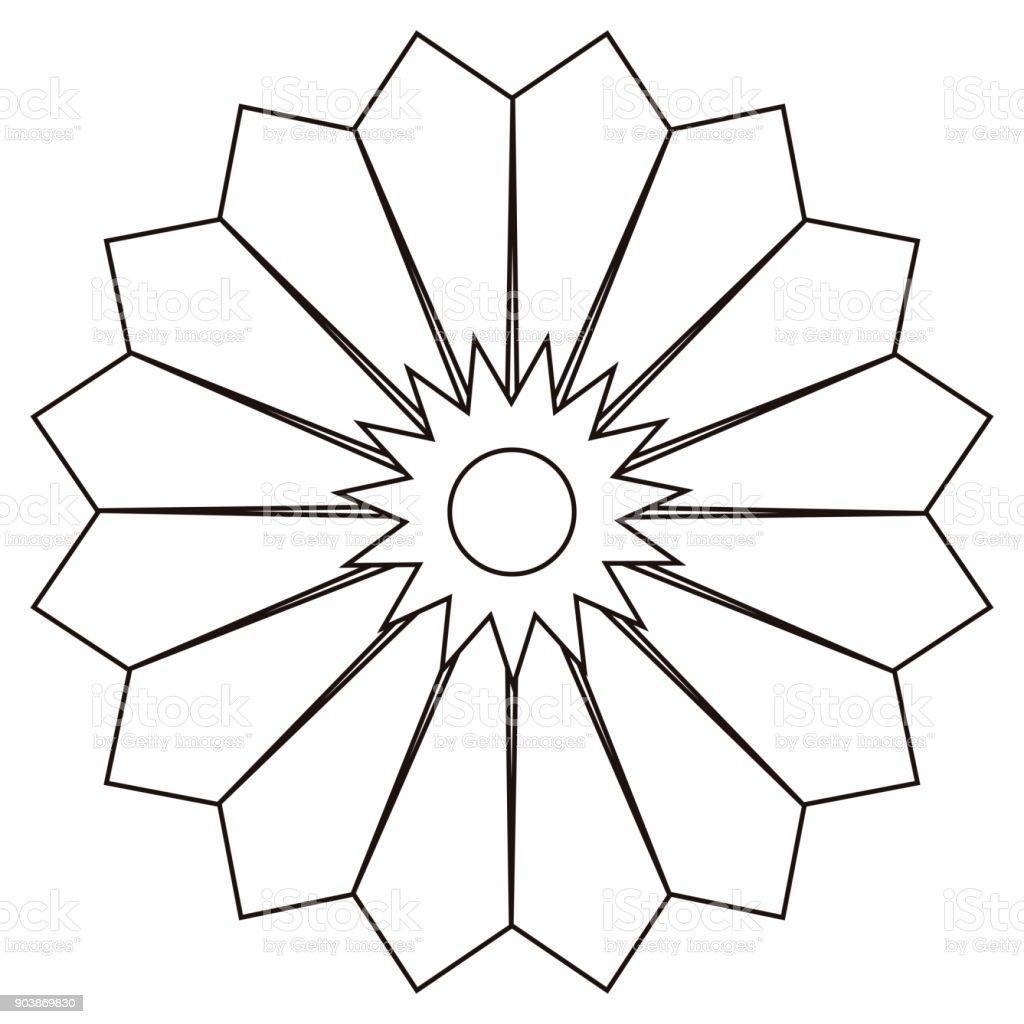 Isolated Flower Outline Stock Vector Art 903869830 Istock