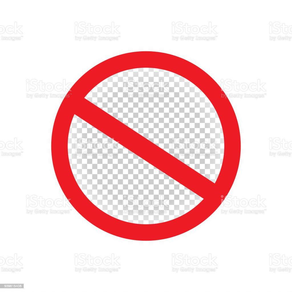 禁止禁止の赤い記号を分離 - か...