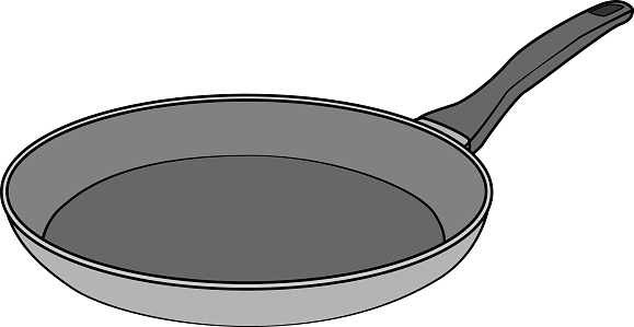 Isolated Frying Pan Cartoon Drawing Stock Illustration