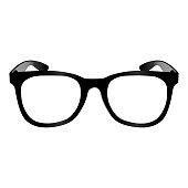 Isolated glasses illustration