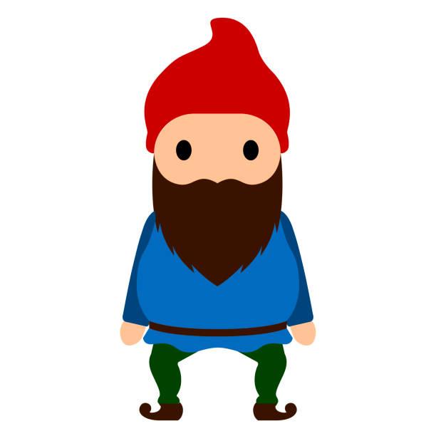 isolierte gnome-symbol - gartendekorationen stock-grafiken, -clipart, -cartoons und -symbole