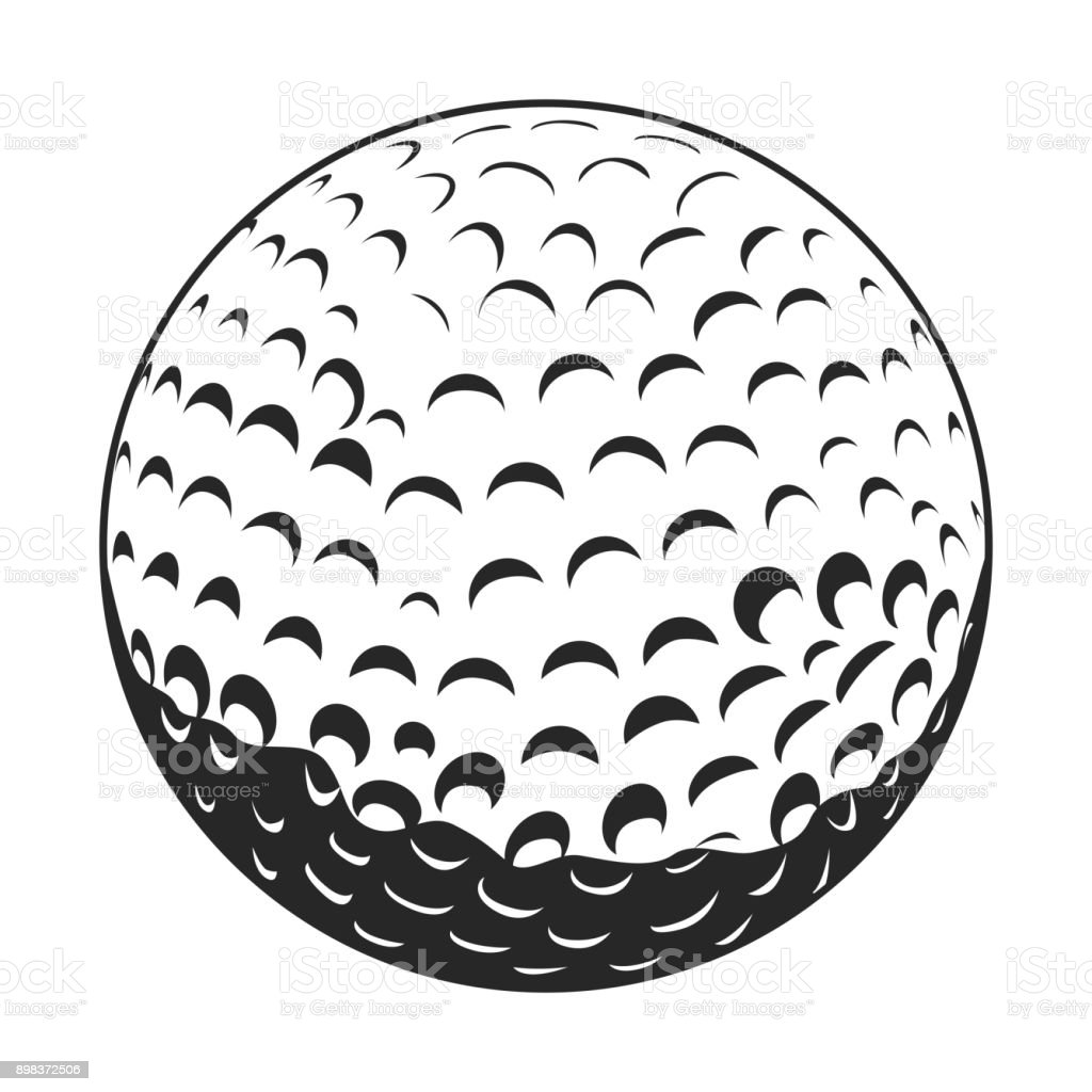Isolado bola de golfe - ilustração de arte em vetor