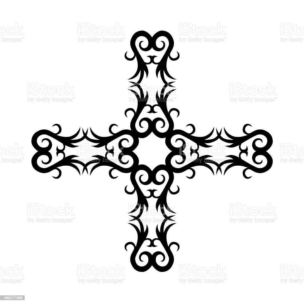 Tattoo Tribal Designs Isolated Graphic Design Element