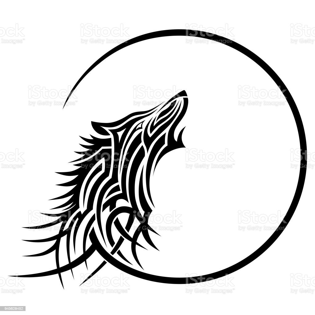 Tattoo Wolf Tribal Vector Designs Isolated Graphic Element In Tribal