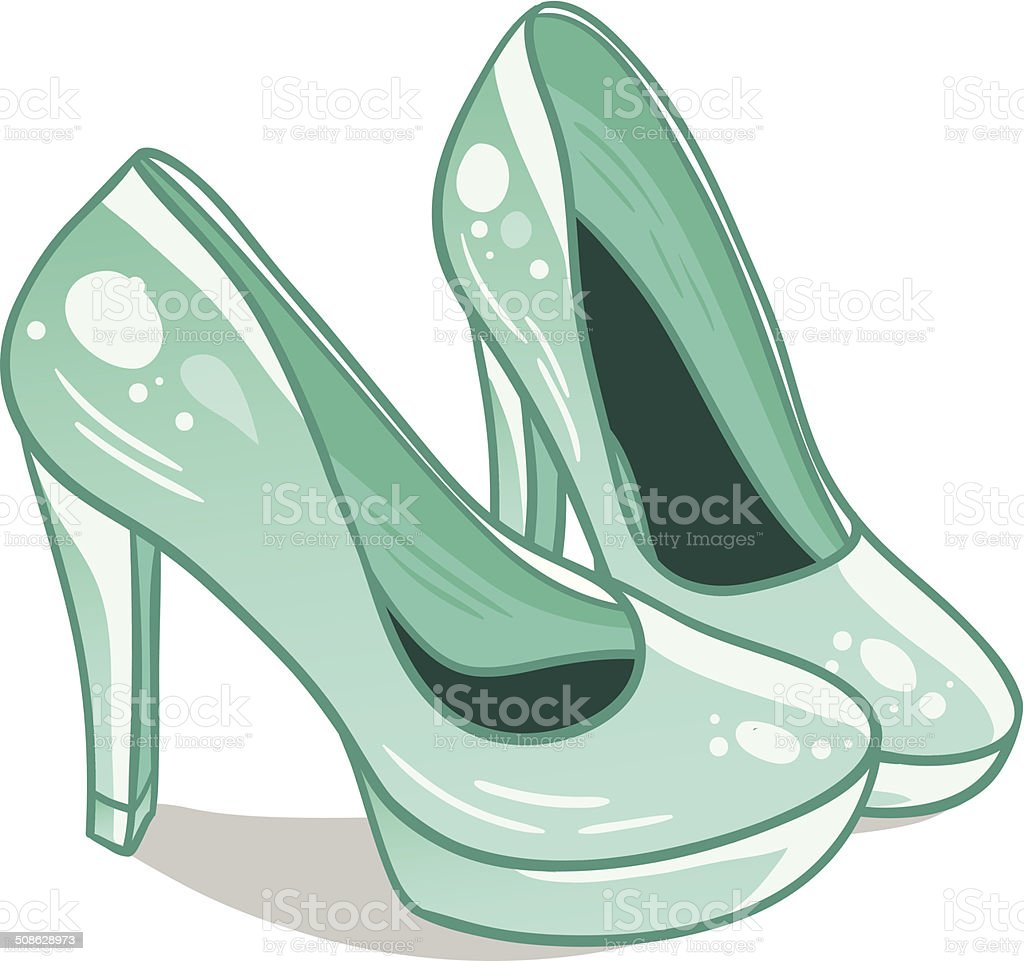 Isolated high hills shoes royalty-free isolated high hills shoes stock vector art & more images of adult