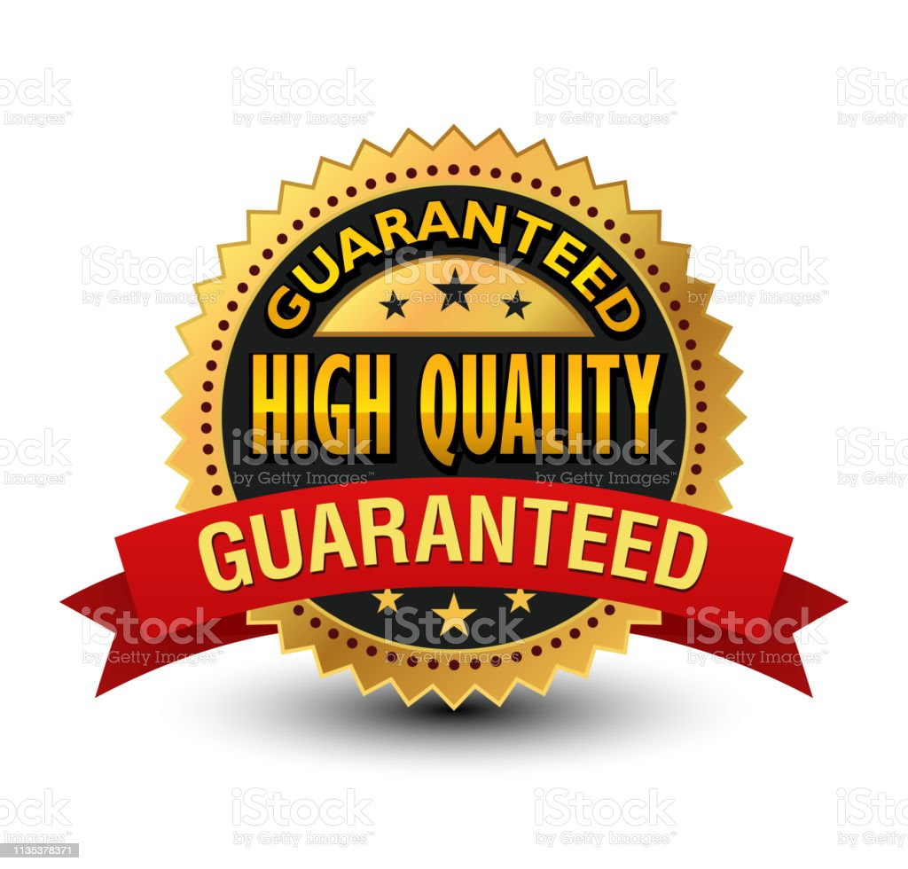 This power high quality guarantee badge will convey that your product...