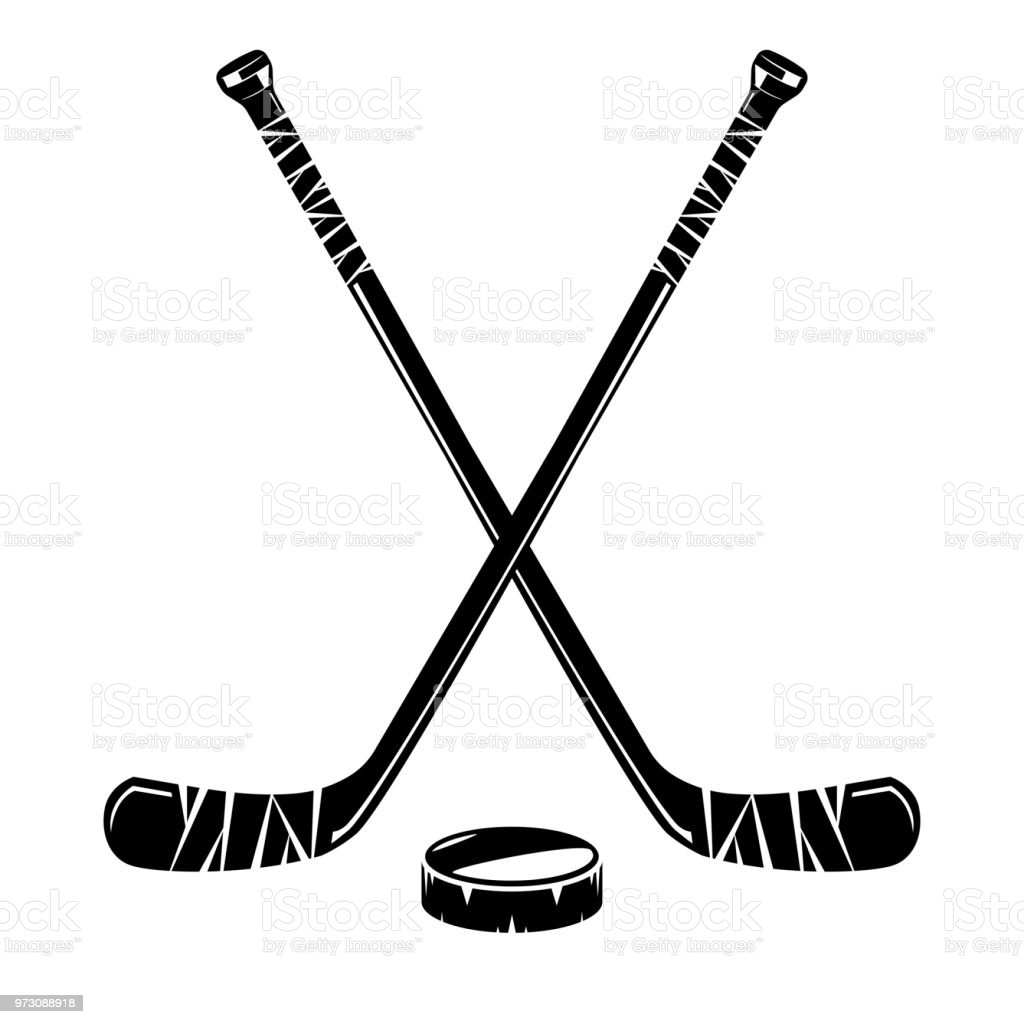 isolated hockey stick stock vector art more images of ball rh istockphoto com hockey stick vector free hockey stick clipart vector
