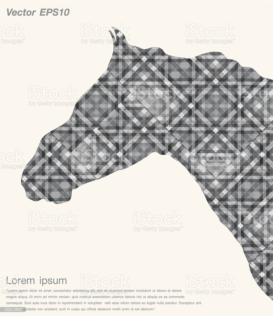 Isolated horse Gray abstract royalty-free stock vector art
