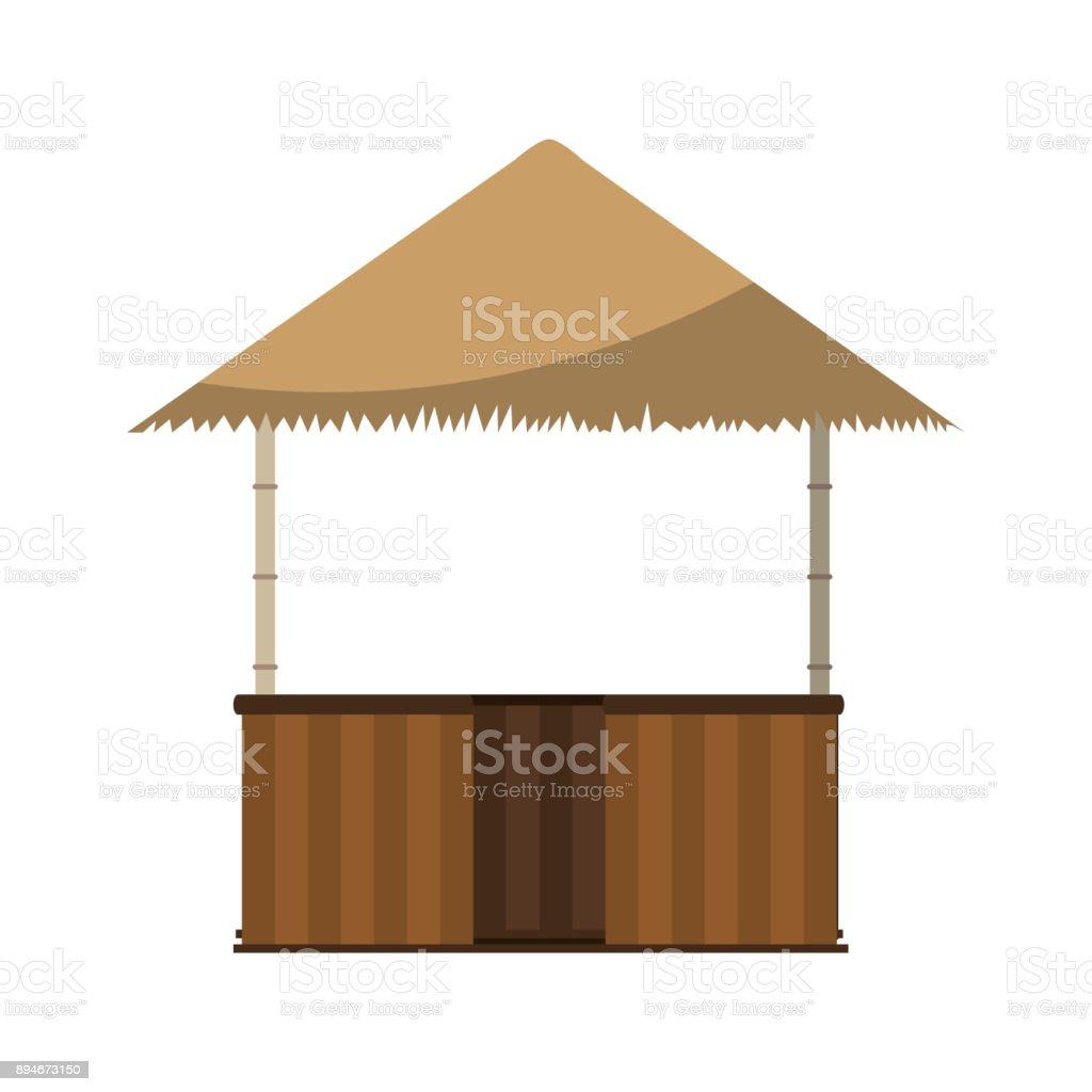 Hut Design: Isolated Hut Design Stock Illustration