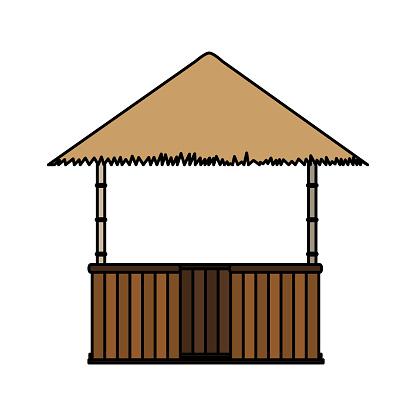 Isolated hut design